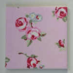 Clarke and Clarke Rosebud Pink Ceramic Wall Tiles